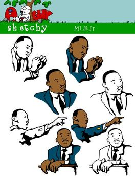 Martin Luther King Jr / MLK Clipart / Graphics