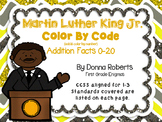 Martin Luther King Jr. MLK Color by Code Addition color by