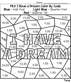 Martin Luther King, Jr. /MLK Color by Number FREEBIE