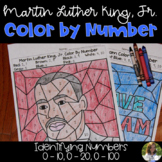 Martin Luther King, Jr. /MLK Color by Number: Identifying Numbers