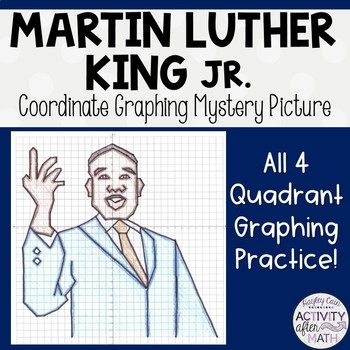 Martin Luther King Jr.(MLK) Coordinate Graphing Mystery Picture!