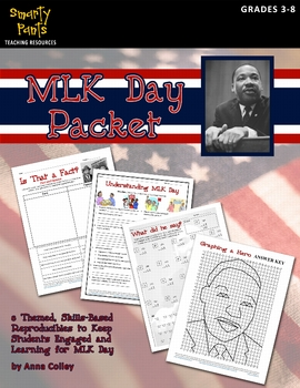 Martin Luther King Jr. (MLK) Day packet 8 activities cause and effect