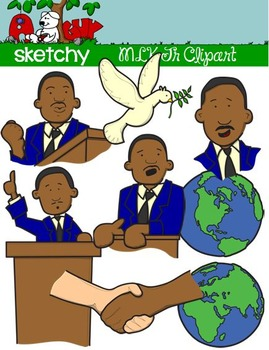 Martin Luther King Jr / MLK Fun Clipart / Graphics