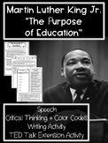 Martin Luther King Jr. (MLK) High School Speech Analysis