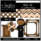 Martin Luther King Jr. - MLK Jr. Mini Clipart Bundle {A Hughes Design}