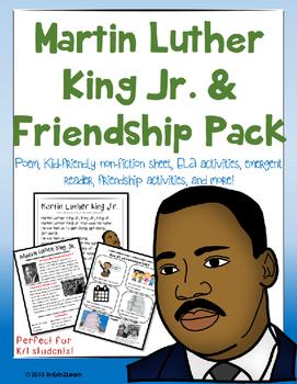 Martin Luther King Jr. MLK Kindergarten, First Grade or Pre-school