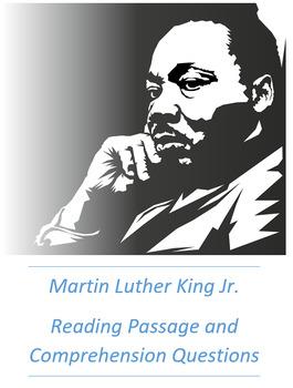 Martin Luther King Jr. (MLK) Reading Passage Comprehension