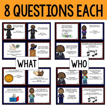 Martin Luther King Jr (MLK) WH- Questions Game
