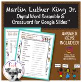 Martin Luther King Jr. MLK Word Scramble & Crossword Puzzle for Google Slides™