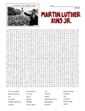 Martin Luther King, Jr. (MLK) Word Search - difficult   (SUB PLAN use?)