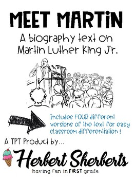 Martin Luther King Jr. [MLK] reading passages - 4 levels