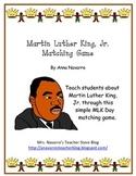 Martin Luther King, Jr. Matching Game