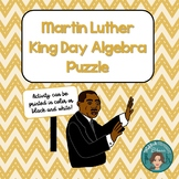 Martin Luther King Jr Algebra Puzzle for the middle and hi