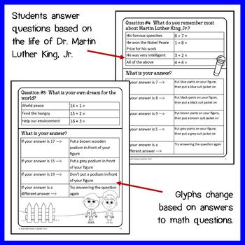 Martin Luther King, Jr. Math Glyph (1st Grade Common Core)