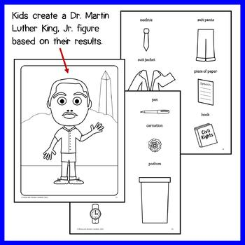 Martin Luther King, Jr. Math Glyph (3rd Grade Common Core)