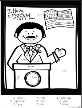 Martin Luther King Jr. Math & Literacy Packet - Print and Practice