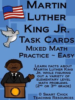 Martin Luther King Jr. Math Task Cards! (set of 20)  for Gr. 2-3