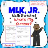 Martin Luther King Jr. Math Worksheet- Digital and Printable