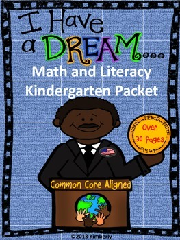 Martin Luther King, Jr. Math and Literacy (Print & Go Common Core Aligned)
