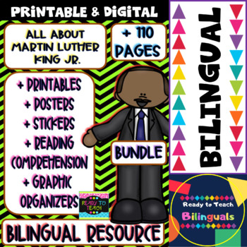 Martin Luther King Jr. - Maths and Literacy - Bilingual Bundle  + 110 pages