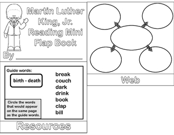 Martin Luther King, Jr. - Mini Biography Flip Book ( Reading and ELA)