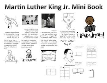 Martin Luther King Jr. Mini Book