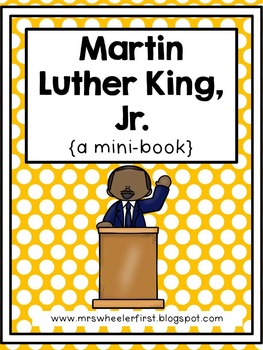 First Grade Mini-Book: Martin Luther King Jr.