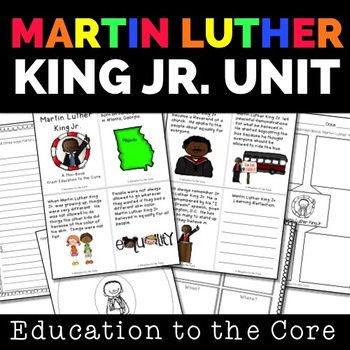 Martin Luther King Jr - Close Read and Mini-Unit