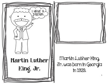 Martin Luther King, Jr. Mini Book Informational Text