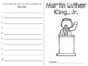 Martin Luther King, Jr. Mini Book with Questions