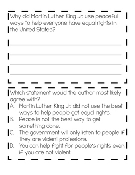 Martin Luther King Jr. Mini Booklet - TEKS