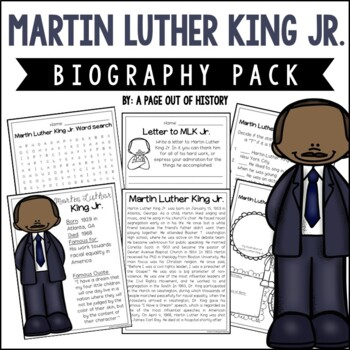 Martin Luther King Jr. Biography Pack (Black History Month)