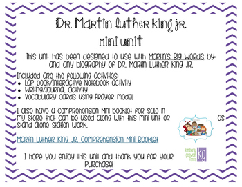 Martin Luther King Jr. Mini Unit
