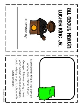 Martin Luther King Jr. Mini Unit: includes 8 page student book
