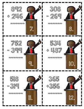 Martin Luther King Jr. Multi-Digit Addition and Subtraction