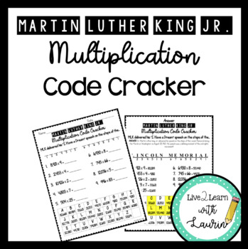 Martin Luther King, Jr. Multiplication Code Cracker