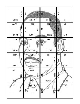 Martin Luther King Jr Multiplication Puzzle