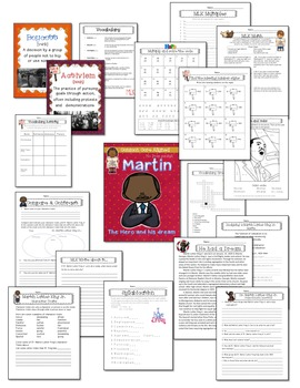 Martin Luther King Jr. No Prep Common Core packet