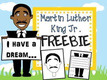 Martin Luther King Jr. No Prep Craft and Writing FREEBIE