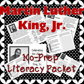 Martin Luther King, Jr. No-Prep Reading Packet