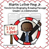 Black History Month Reading Passage - Martin Luther King Jr. (MLK)