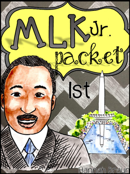 Martin Luther King Jr. Activities Packet for 1st Grade