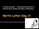 Martin Luther King Jr. Craftivity with PowerPoint and art Project