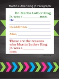 Martin Luther King Jr. Paragraph Template