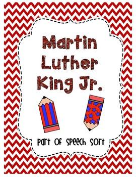 Martin Luther King Jr. Part of Speech Sort