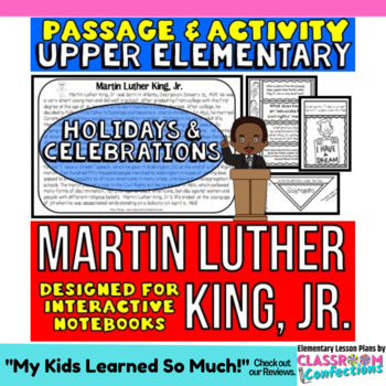 Martin Luther King, Jr.: Reading Passage and Questions: Interactive Notebook