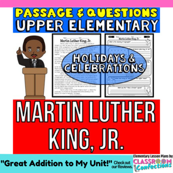 Martin Luther King, Jr.: Passage and Questions: Reading Comprehension Activity