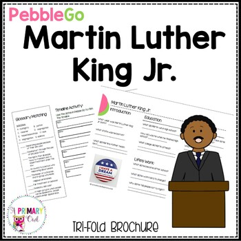 Martin Luther King Jr. PebbleGo research brochure