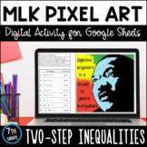 Martin Luther King Jr. Pixel Art: Two-Step Inequalities (D