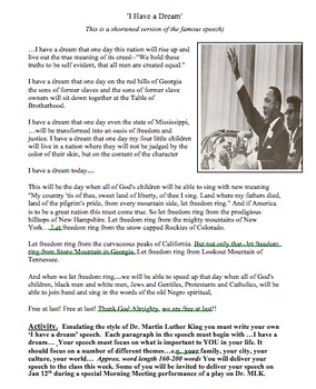 Dr. Martin Luther King Jr. Play Script